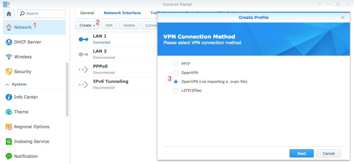 How to connect a Synology NAS to a VPN • Infomaniak